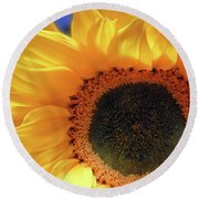 Glorious Sunflower Round Beach Towel