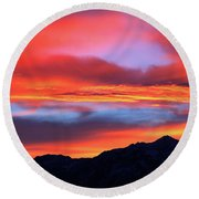 Glorious Sunrise Round Beach Towel