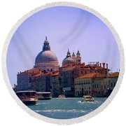 Round Beach Towel featuring the photograph Glorious Venice by Anne Kotan
