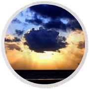 Round Beach Towel featuring the photograph Glorious  by Will Borden