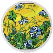 Glory In The Flower Round Beach Towel