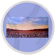 Glory Of Cotton Round Beach Towel