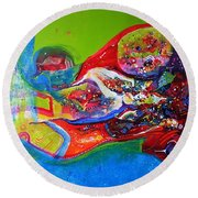 Glory Of Harmony Round Beach Towel
