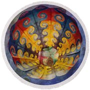 Glory Of The Sky Round Beach Towel