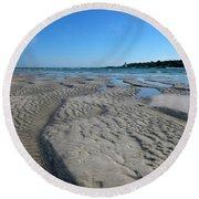 Gloucester Lighthouse Round Beach Towel by Barbara Bardzik