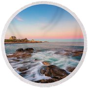 Gloucester Sunset 1 Round Beach Towel
