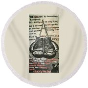 Gloves Of Life Round Beach Towel