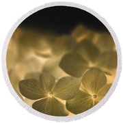 Glow Blossoms Round Beach Towel