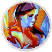 Glow From Within Round Beach Towel