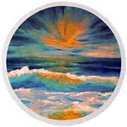 Glow Round Beach Towel by Holly Martinson