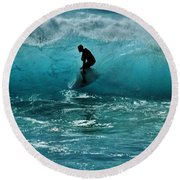 Glow Of The Surf Round Beach Towel by Craig Wood