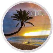 Glow. Round Beach Towel