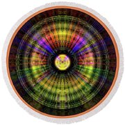 Glow Wheel Eight Round Beach Towel