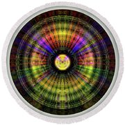 Glow Wheel Eleven Round Beach Towel
