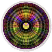 Glow Wheel Five Round Beach Towel