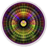 Glow Wheel Four Round Beach Towel