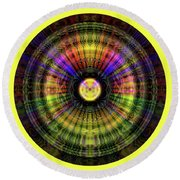 Glow Wheel Nine Round Beach Towel