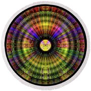 Glow Wheel One Round Beach Towel