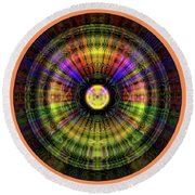 Glow Wheel Seven Round Beach Towel