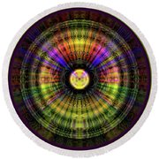 Glow Wheel Six Round Beach Towel