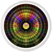 Glow Wheel Ten Round Beach Towel
