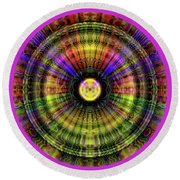 Glow Wheel Three Round Beach Towel