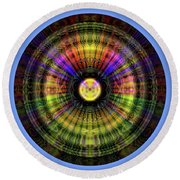 Glow Wheel Twelve Round Beach Towel