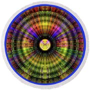 Glow Wheel Two Round Beach Towel