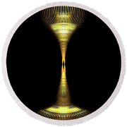 Glowing Brass Lamp Stand Round Beach Towel