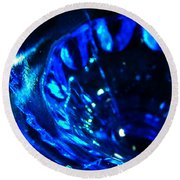 Glowing Glass Beauty Round Beach Towel by Samantha Thome
