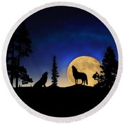 Round Beach Towel featuring the photograph Glowing Horizon by Shane Bechler