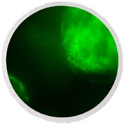 Round Beach Towel featuring the photograph Glowing Orbs by Greg Collins