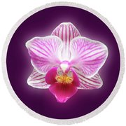 Glowing Orchid Round Beach Towel