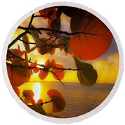Glowing Red II Round Beach Towel by Stephen Anderson
