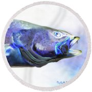 Glowing Trout Round Beach Towel by Phyllis Beiser