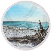 Gnarled Drift Wood Round Beach Towel