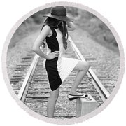 Round Beach Towel featuring the photograph Go Far by Barbara West