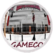 Go Gamecocks Round Beach Towel