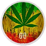 Go Green Round Beach Towel