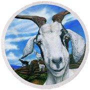 Goats Of St. Martin Round Beach Towel