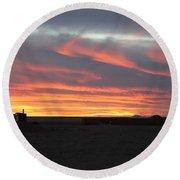 Gobi Sunset Round Beach Towel
