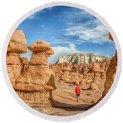 Goblin Valley State Park Round Beach Towel by JR Photography