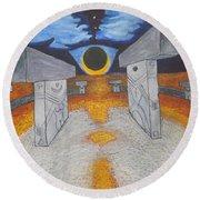Goblitechi Vision Eclipse Round Beach Towel