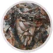 God Is Great  Round Beach Towel