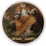 God The Father Round Beach Towel