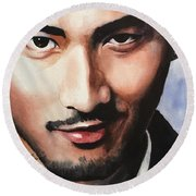 Godfrey Gao Round Beach Towel
