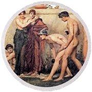Gods At Play Round Beach Towel