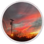 God's Beauty Round Beach Towel
