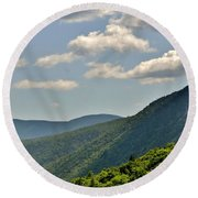 Round Beach Towel featuring the photograph God's Country by Barbara S Nickerson