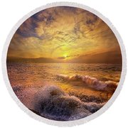Round Beach Towel featuring the photograph Gods Natural Cure by Phil Koch
